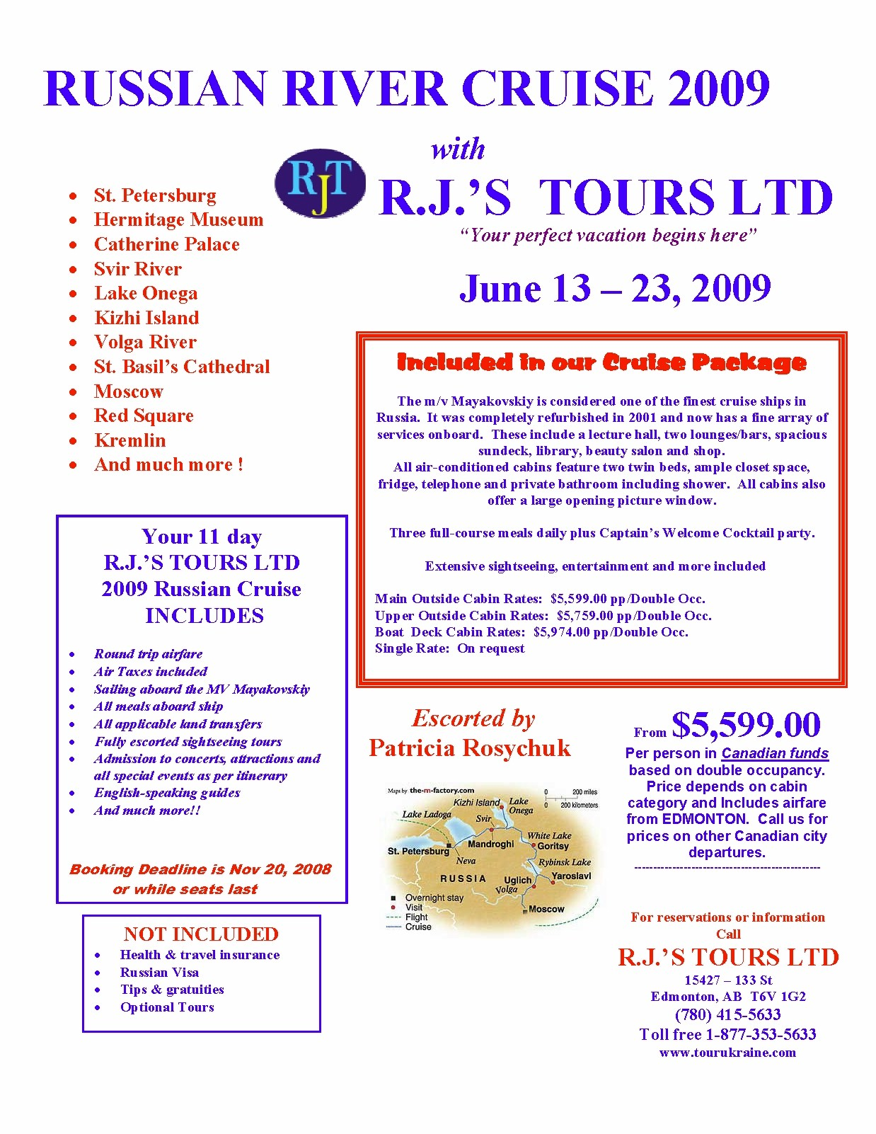 All-inclusive escorted group tour
