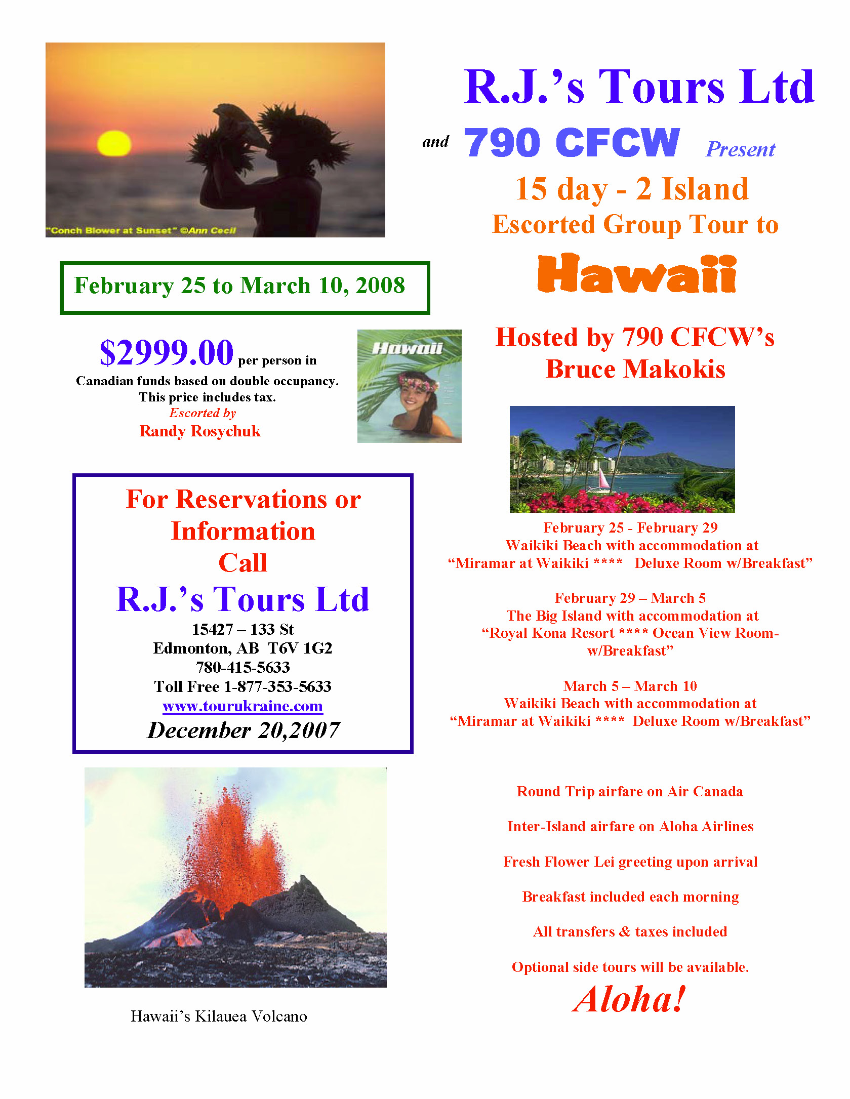 Hawaiian Islands Announcement