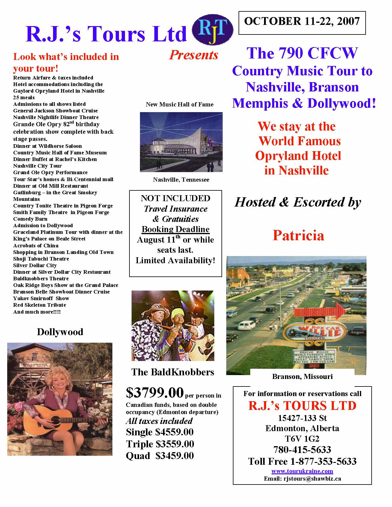 All-inclusive Country Music Tour